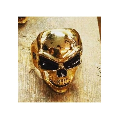 R30 Skull Ring (yellow gold plated)