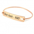 Bangle bracelet with engraved ID tag
