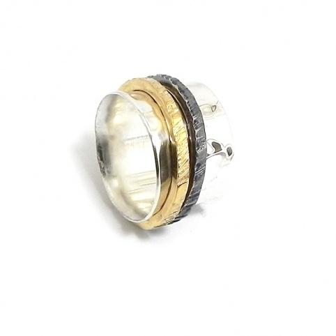 Δαχτυλίδι spinner 10mm με 3 δακτυλίους