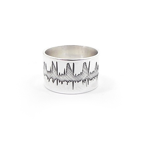 Personal soundwave ring, personalized waveform ring