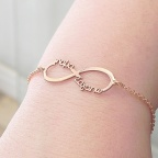 "Infinity bracelet with the words ""Μαμά σαγαπώ"""
