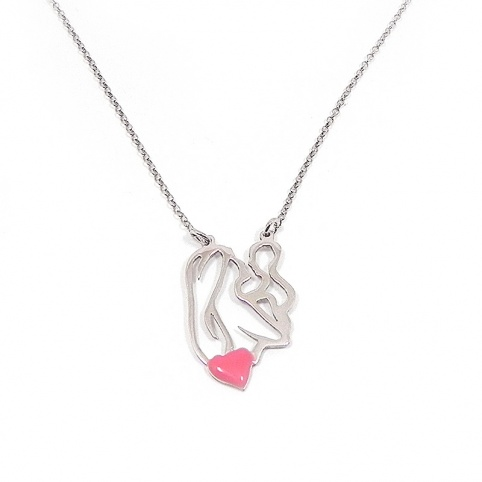Necklace with a mommy holding baby in her arms