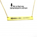 Personal soundwave necklace, personalized waveform necklace
